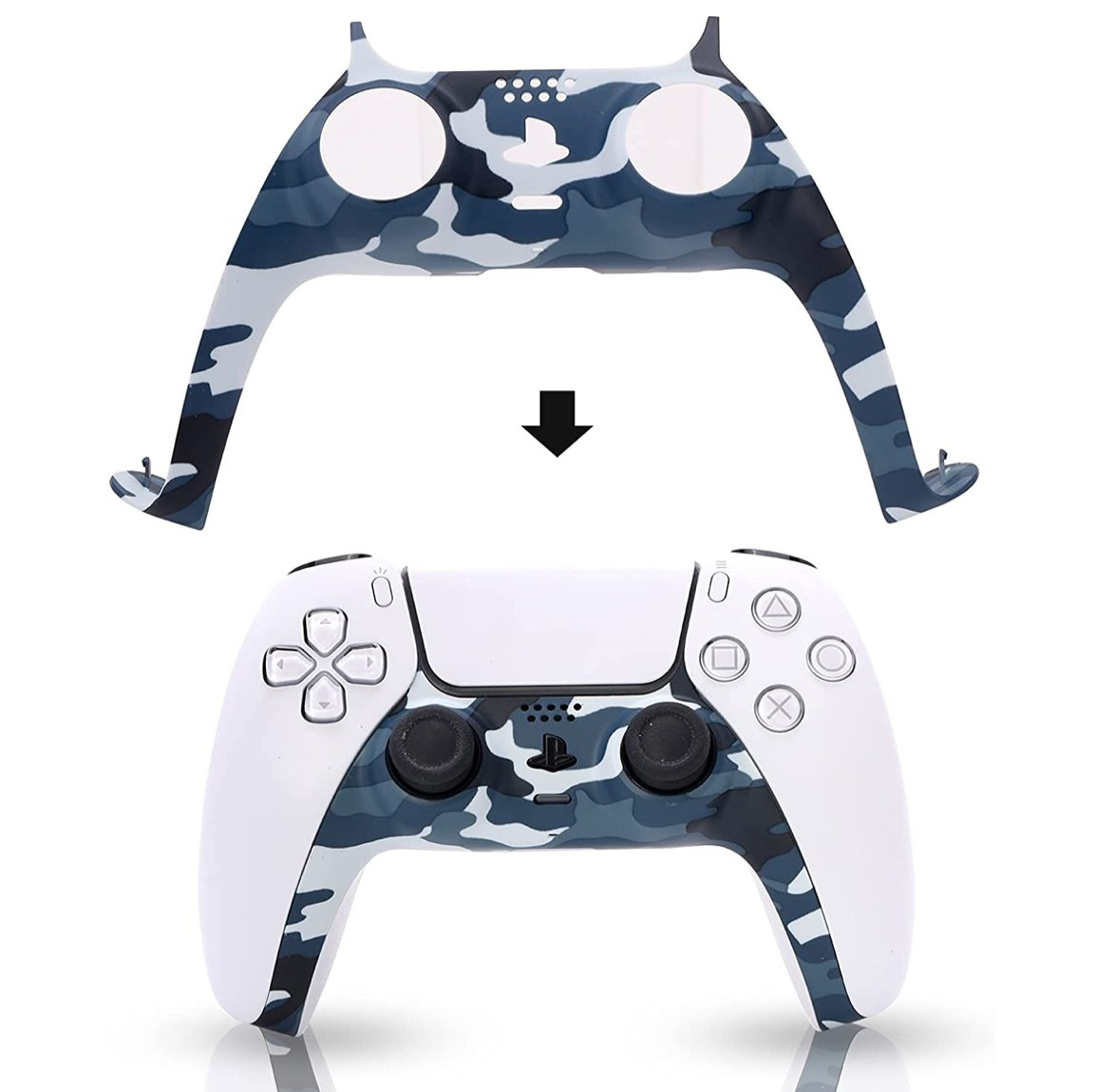 Camouflage Blue PS5 Controller Faceplate $12.99  Amazon USA