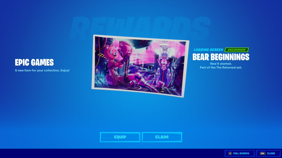 When you launch fortnite you will get the new crew pack reward! https://t.co/3t6FLcPjUY