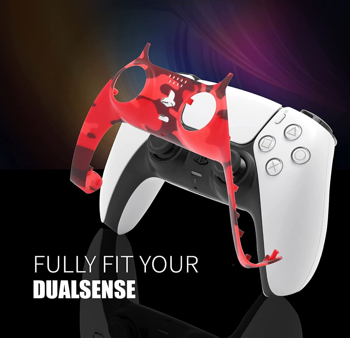 Camouflage Red PS5 Controller Faceplate $12.99  Amazon USA