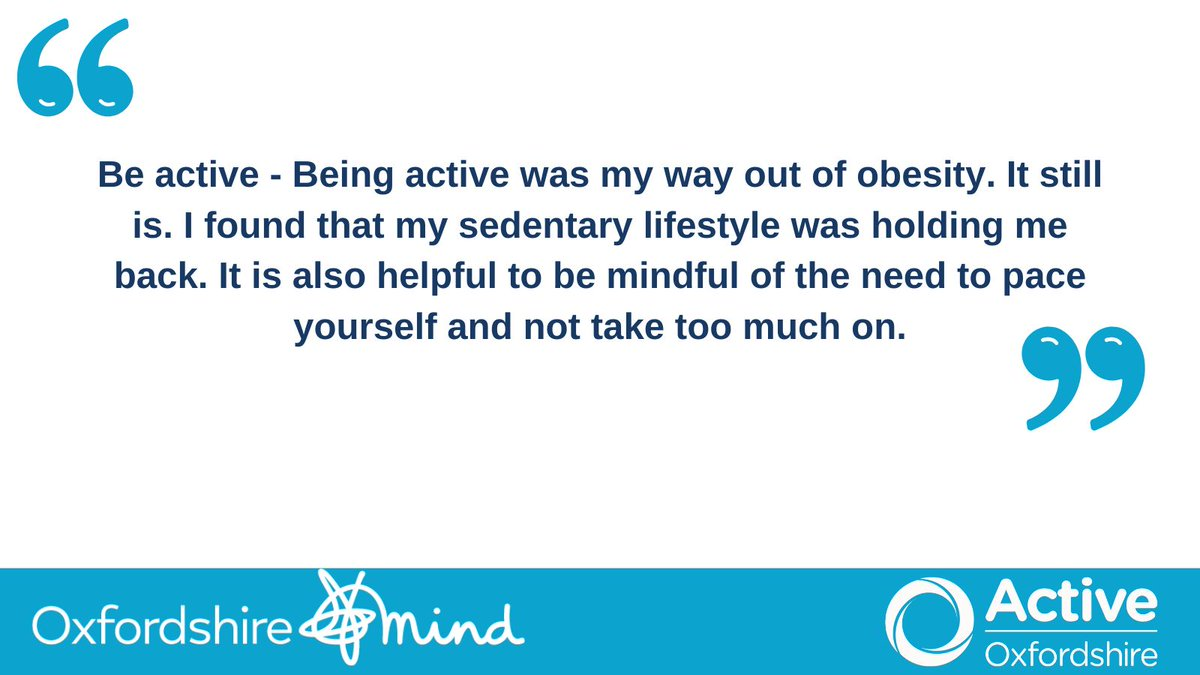 Physical exercise benefits mental health in different ways: here's Neil's thoughts. We're working with @oxfordshiremind and their Experts by Experience to highlight the importance of physical activity for #MentalHealthAwarenessWeek https://t.co/ilHygRMODu