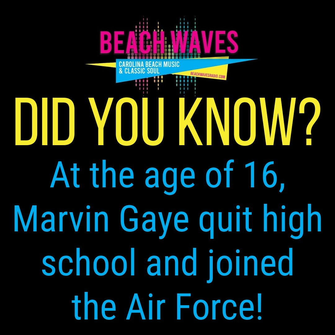 #triviatuesday #tuesdaytrivia #MarvinGaye #USAF #AirForce #beachwavesradio #beachmusic #beachmusicradio #ilovebeachmusic #theshag #beachlifestyle #shaggingatthebeach #southernbeachlife #lifeatthebeach #lifesabeach #shagdancing https://t.co/2wCES2yA8n