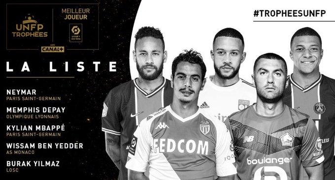 المرشحين لجائزة افضل لاعب في الدوري الفرنسي