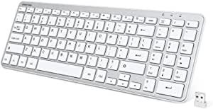 OMOTON 2.4G Wireless Keyboard Ultra Slim Keyboard $31.99 2 at
