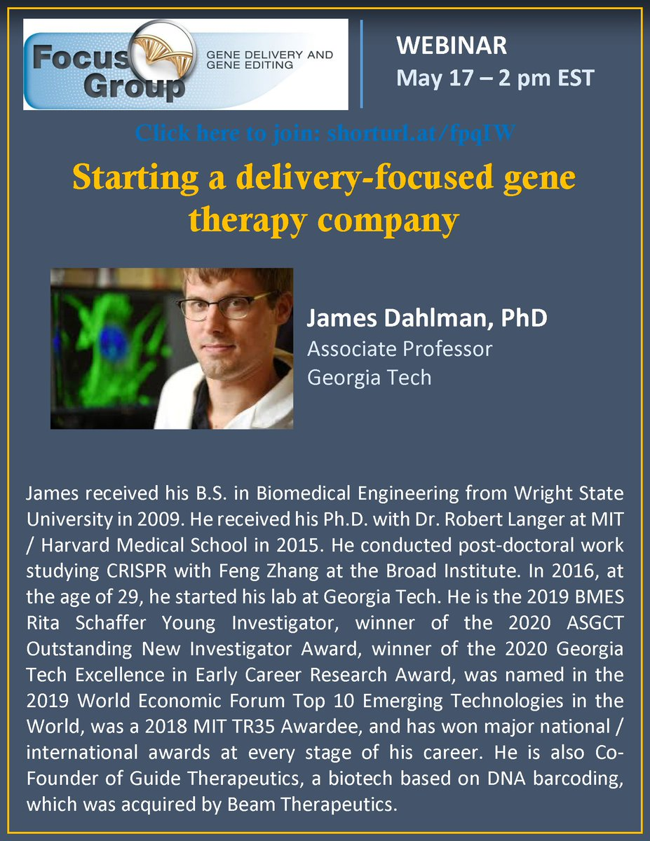 It is my honor to host Prof.  @DahlmanLab for this exciting talk next week @CRS_FG_Gene @JulieNguyenLab @CRS_YSC