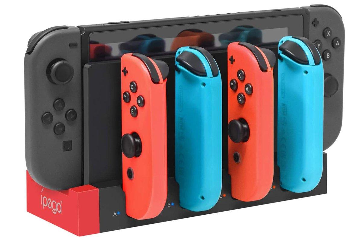 Charging Dock Base Station for Nintendo Switch Joy-Cons $10.94 via Amazon (Prime Eligible).