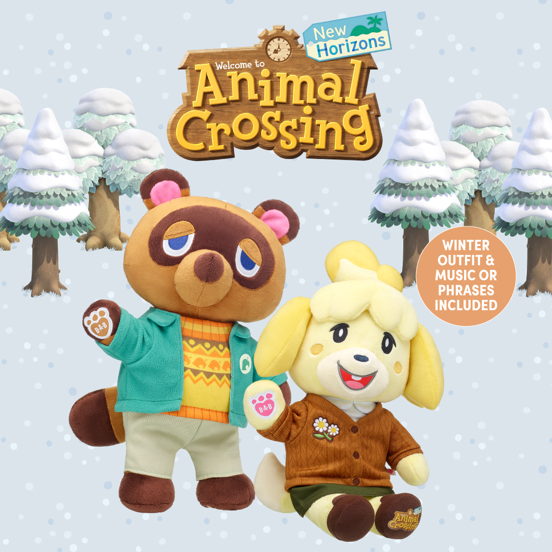 Create a world of your own alongside our @animalcrossing™: New Horizons plush friends! Our Tom Nook and Isabelle bundles come with their all-new winter outfits and music or phrases included. Available online NOW!  US: https://t.co/YOO5cuUMLl UK: https://t.co/Q8O6BCglF4 https://t.co/bc0ZTUYIyb