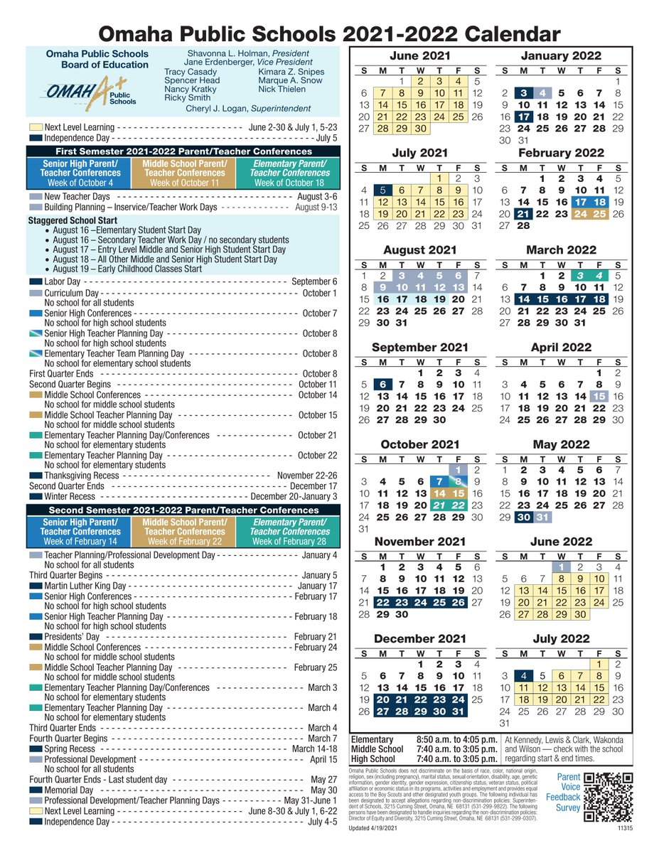 Ops Calendar 2022.Omaha Public Schools On Twitter In Case You Missed It The Omaha Public Schools 2021 2022 Calendar Is Available Take A Look Below Or Download A Copy At This Link On Our Website