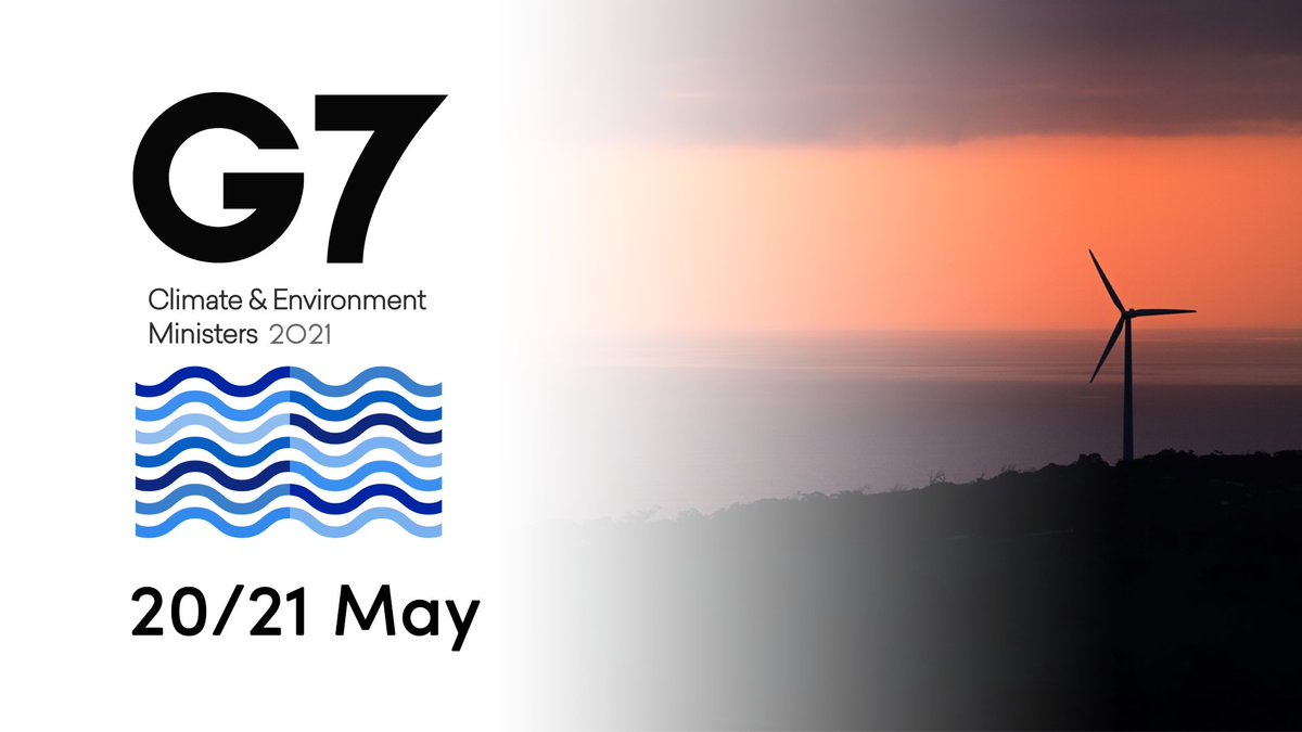 RT @UNBiodiversity 📢 COMING UP: #G7 Climate and Environment Ministers will meet virtually on 20 and 21 May  The meeting ahead of #BiodiversityDay will be a key opportunity to accelerate momentum #ForNature and people in the lead up to #COP15 and #COP26.  Learn more via @G7: https://t.co/r7IHx5dArr