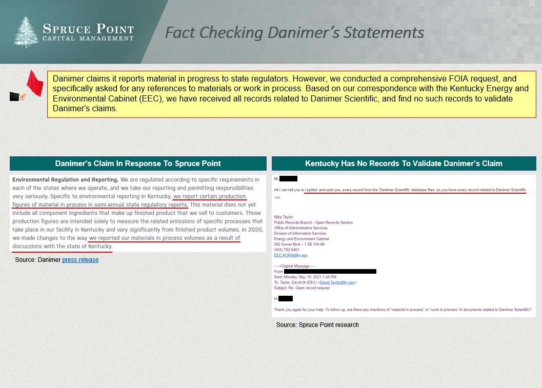"""We just fact-checked a key claim made by $DNMR that its production reported to Kentucky is """"material in process"""". We have all of the records, and can find no records or references to """"material in process"""" to validate management's claim #bearish"""