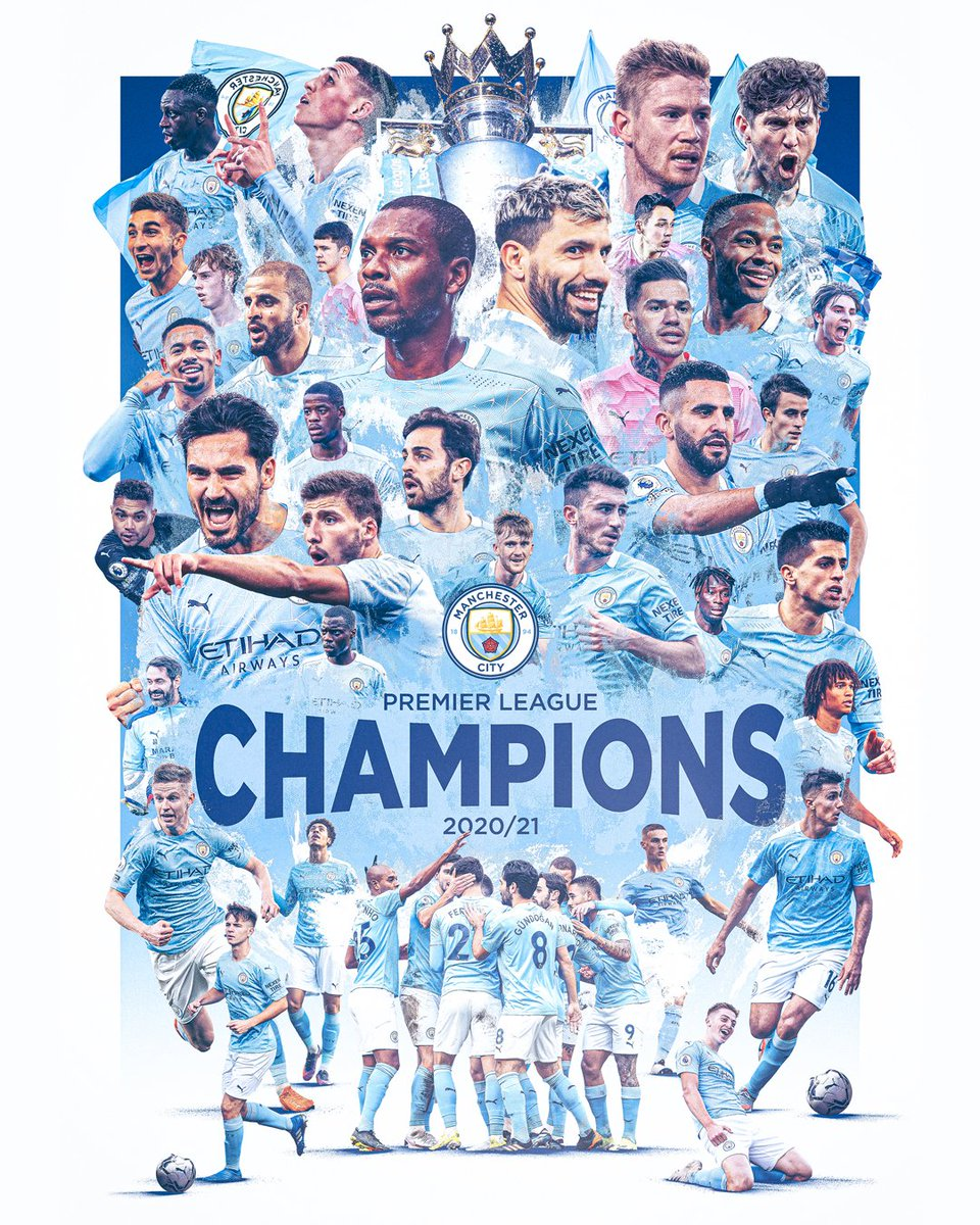 Congratulations to our friends @ManCity on taking home the 2021 Premier League title! 🏆 https://t.co/IjTK6RTdzN