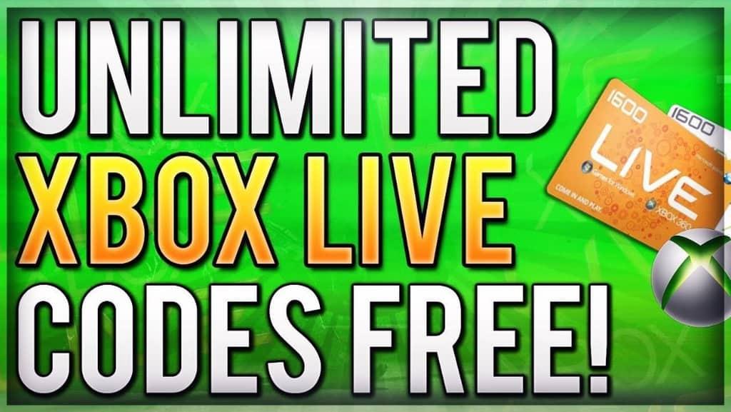 Codes live 2017 xbox free Free Xbox