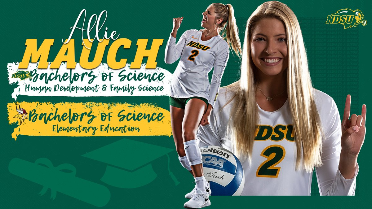 This smarty pants isn't graduating with just one degree, but TWO! Congratulations to 2021 graduate 🎓 Allie Mauch, we're proud of all you have accomplished! #OnceaBisonAlwaysaBison