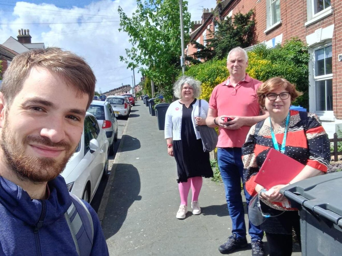 @NorwichLabour @SewellLabour @mrpcc2021 @maxkittyw1 @emmalhampton thanks everyone for helping on the first day of campaigning foe the @SewellLabour bi-election, three full on sessions completed. See you tomorrow morning 11am if you can make it corner Branford and Sprowston roads