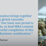 Image for the Tweet beginning: We represented Aphria Inc. in