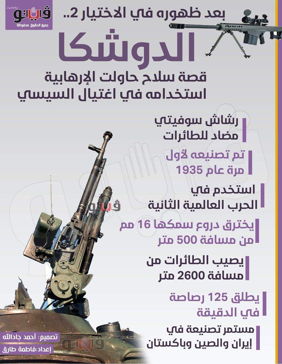 فيتو الدوشكا.. قصة سلاح حاولت الإرهابية استخدامه في اغتيال السيسي