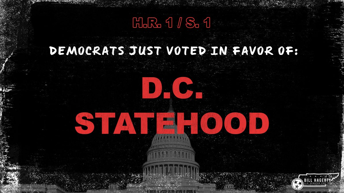 The founders never intended for Washington, D.C. to be granted statehood. Granting statehood is just part of the Democrats' blatant power grab—an attempt to grab two new Democrat senators. https://t.co/yMEtNZdgoD