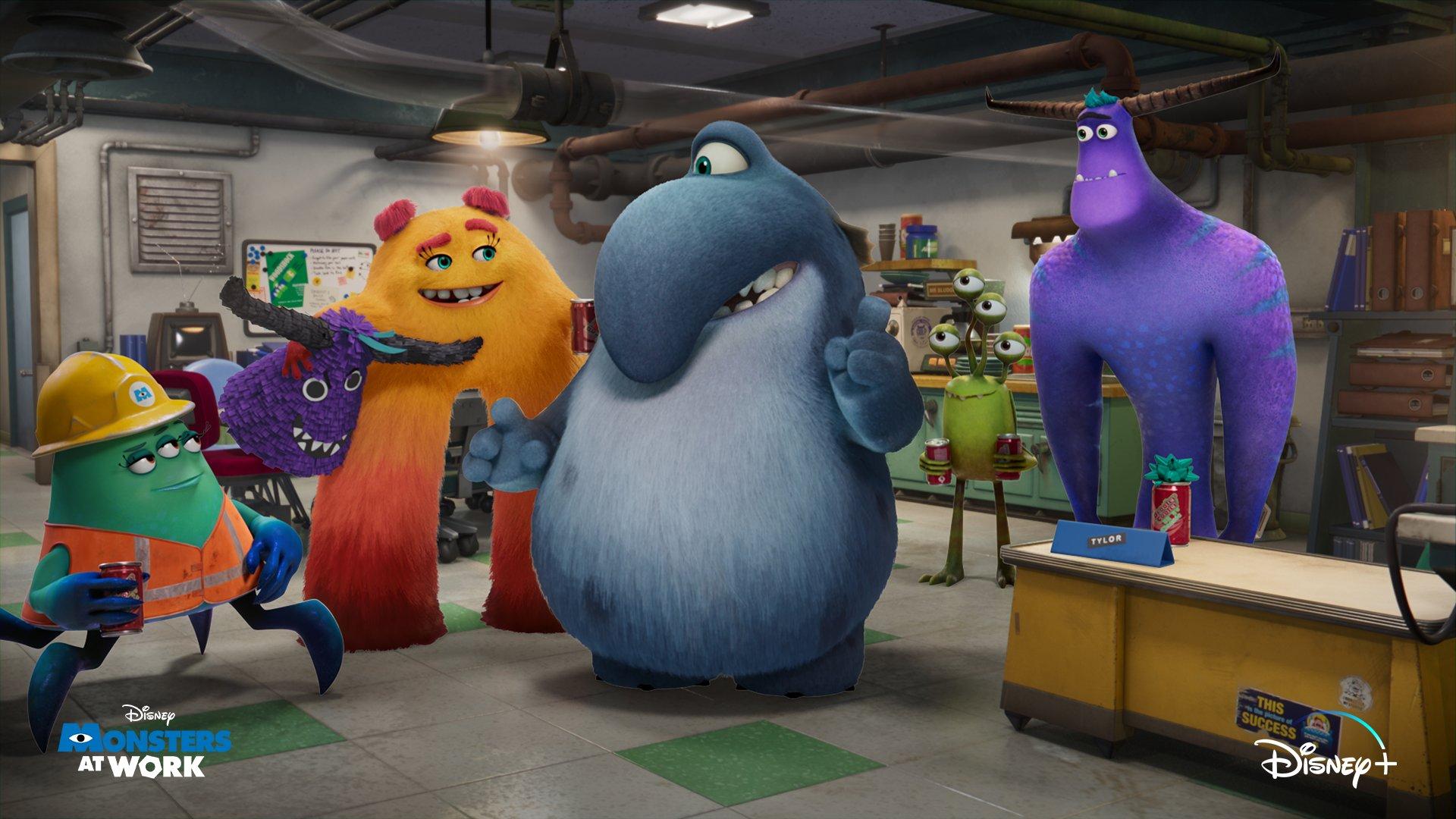 """Pixar divulga nova imagem da série """"Monstros no Trabalho"""""""
