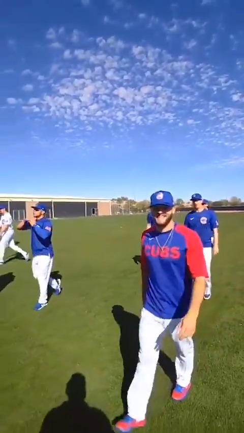 All in a day's work. 😎  Cubs coaches & staff take us behind the scenes at Spring Training with @Spectacles.