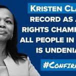 Image for the Tweet beginning: Kristen Clarke represented voters in