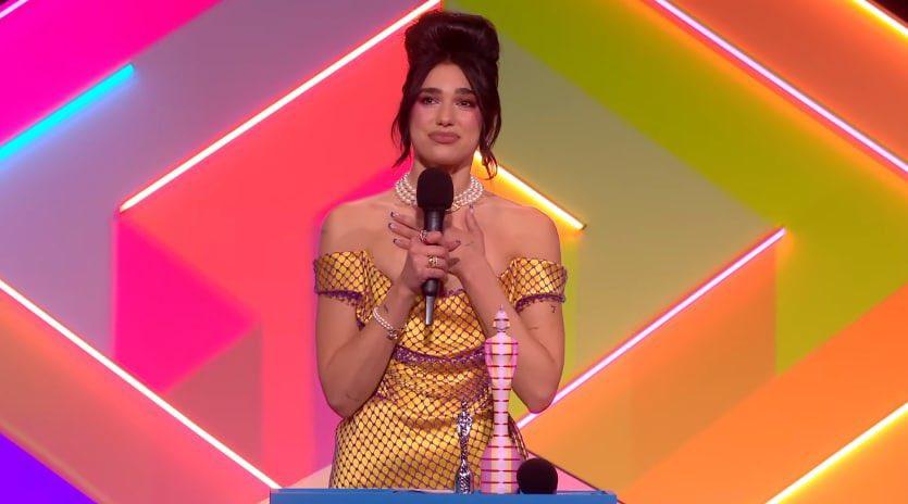 """""""Future Nostalgia"""" de Dua Lipa leva o cobiçado prêmio de Melhor Álbum do Brit Awards (Reprodução/Internet)"""