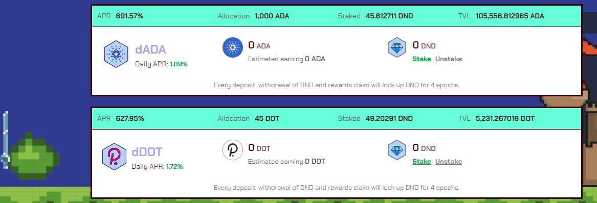 $ADA & $DOT synthetic tokens are now live!! Earn $ADA & $DOT at over 1.5% daily!!  👀 $dADA & $dDot mint: https://t.co/HvwcYmnH3N  $STEEL $IRON @IronFinance