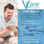 Image for the Tweet beginning: VCare stores all resident/service user