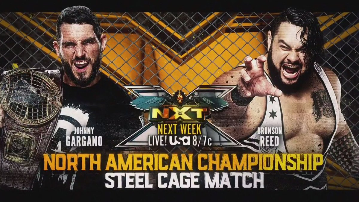 Steel Cage Title Match And More Announced For Next Week's NXT