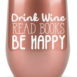 Book Lovers Gifts Women - 12 oz Wine Tumbler or Mug - Idea for Book Club, Librarians, Bulk Readers, Literary, Glass, Bookworm, Reading https://t.co/ZnylWUkNtY
