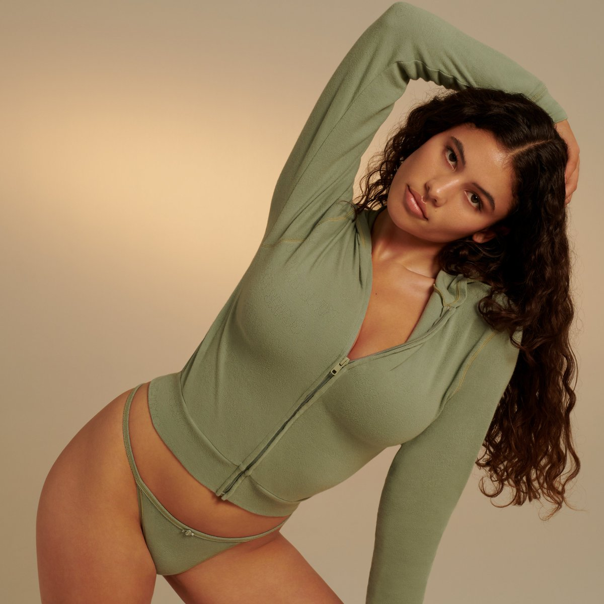 Isabella Carr wears the Pointelle Zip Up Hoodie and T-String Thong in Mineral. Our new SKIMS SKIMS SKIMS collection is pretty, romantic, and softer-than-soft. Get it when it drops May 14 at 12PM ET.  Join the waitlist for early access to shop: https://t.co/YijdXcO52W https://t.co/ebwA8sB7fe