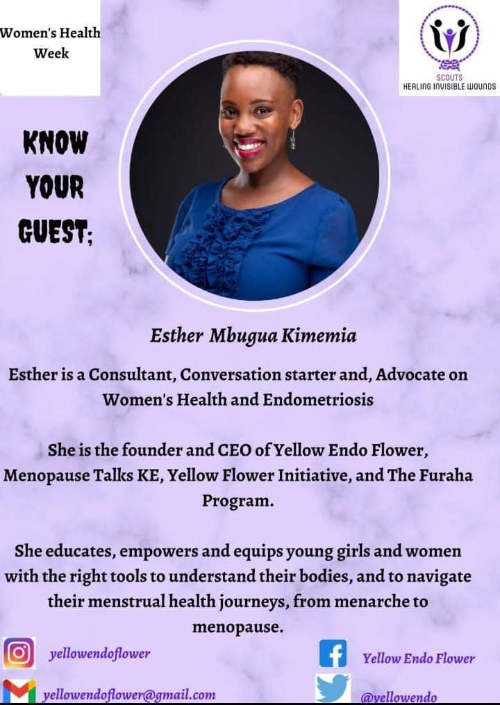 Our Guests this evening are Ephy Oyugi  Founder and CEO L'esperance Fibromyalgia Organisation @lefifo. Esther Mbugua Founder and CEO Yellow Endo Flower @yellowendo and Counselling Psychologist Faith Gichanga Osiro @faith_gichanga   #MentalHealthMatters #WomenAndMentalHealth