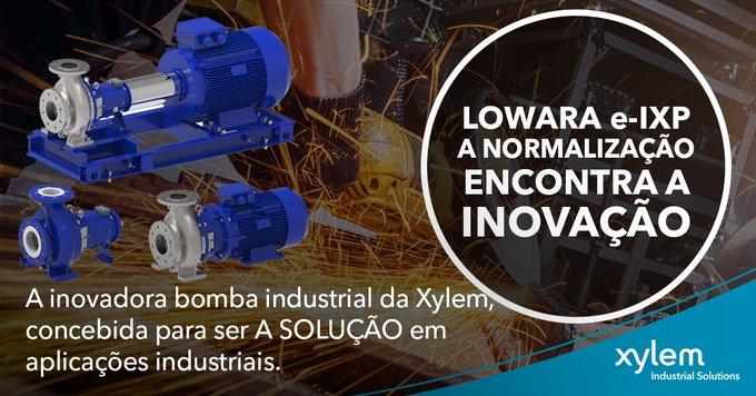 𝐍𝐔𝐄𝐕𝐀 🆕  𝗲-𝗜𝗫𝗣  e-IXP es la nueva e innovadora bomba industrial de Xylem diseñada según las normas ISO 2858 y 5199 para ser LA solución para...