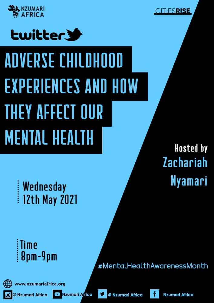 Join us for a tweet chat this evening on ACEs & how they affect our mental mental health! See you between 8 to 9pm @zachjuliu @miss_bridgo @gkasiva @colly_collo @Sarah_0lunga @She_Joy_  @Hasenya5 @GikonyoMaureen @Collins_Odidi @ImmaculateKara2  #MentalHealthMonth #mentalhealth