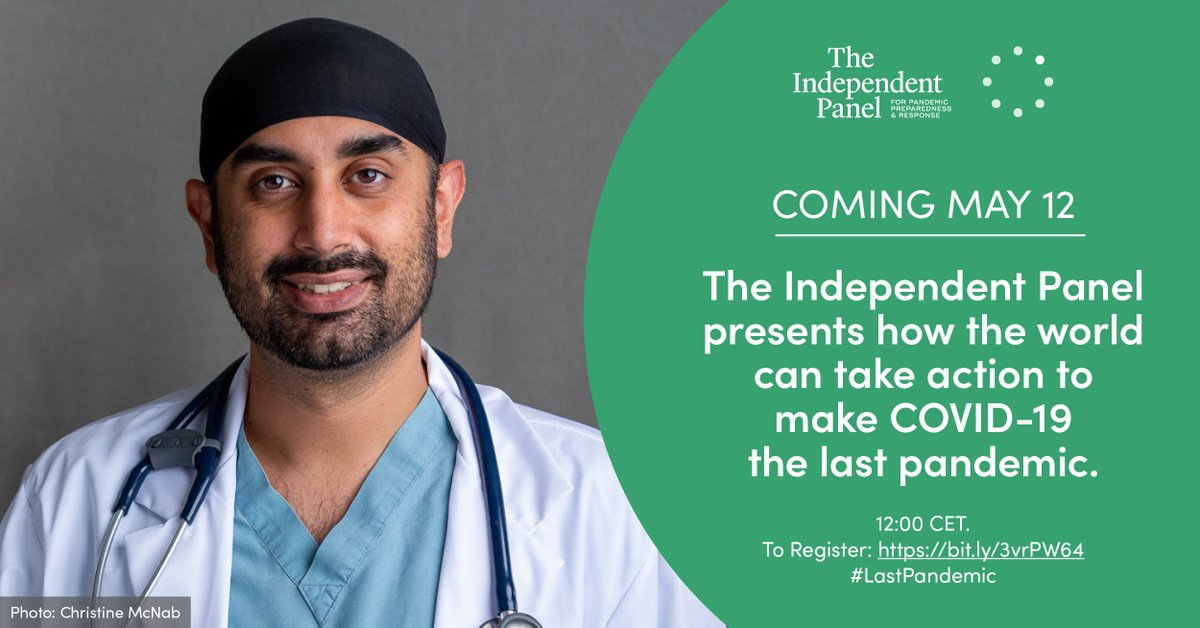 Today at 10AM GMT/12PM CET, my fellow @TheIndPanel Co-Chair @HelenClarkNZ and I will present our final report - 'COVID-19: Make it the Last Pandemic.' I hope you will join us: https://t.co/hGzrRTJXjt #LastPandemic https://t.co/AgpgwjX83T
