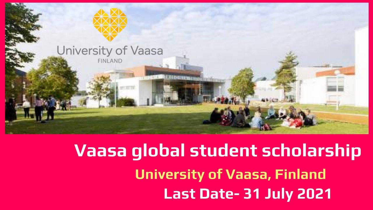 Vaasa global student scholarship by University of Vaasa, Finland