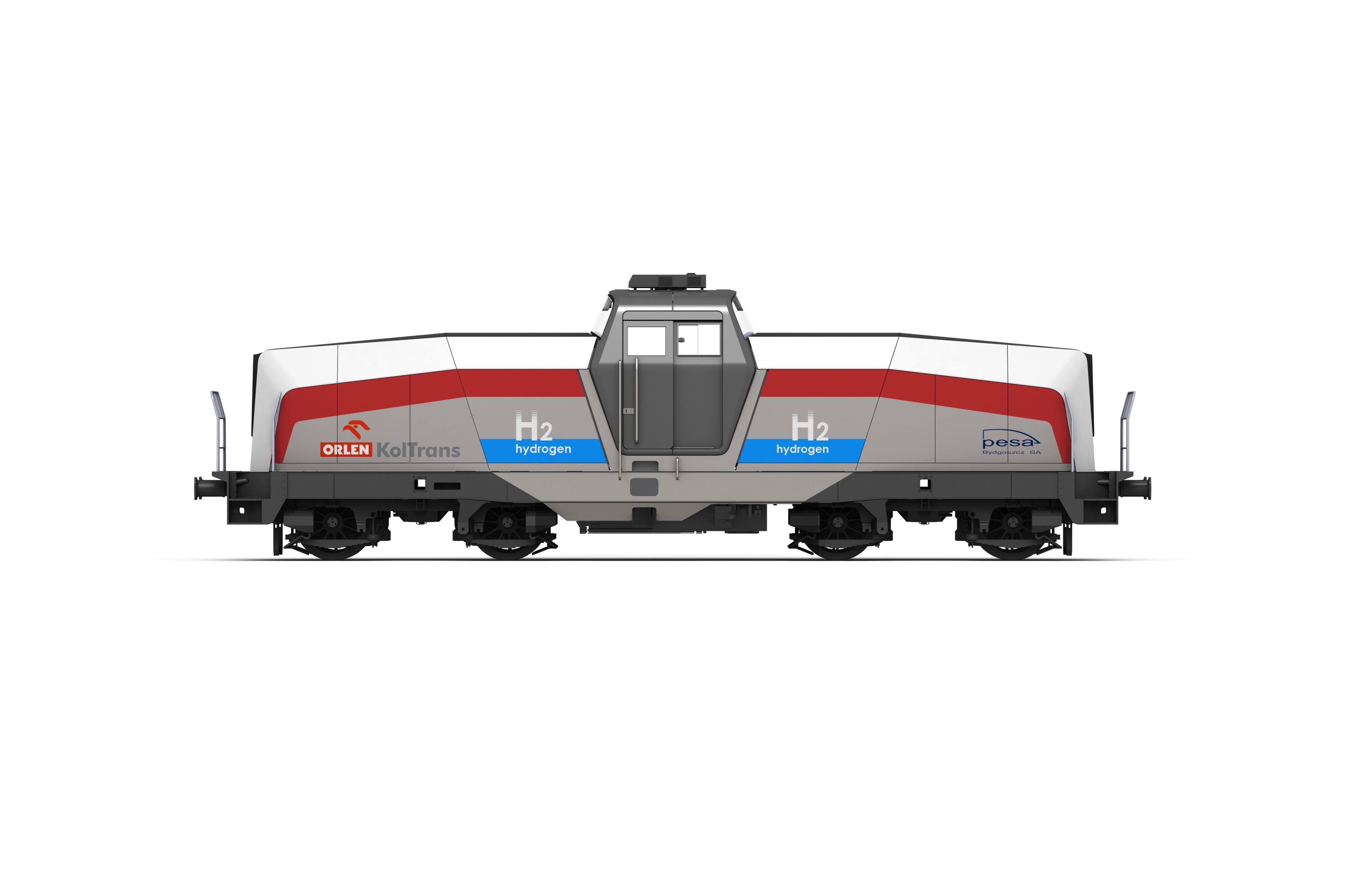 Wizualizacja lokomotywy wodorowej, źr. Pesa