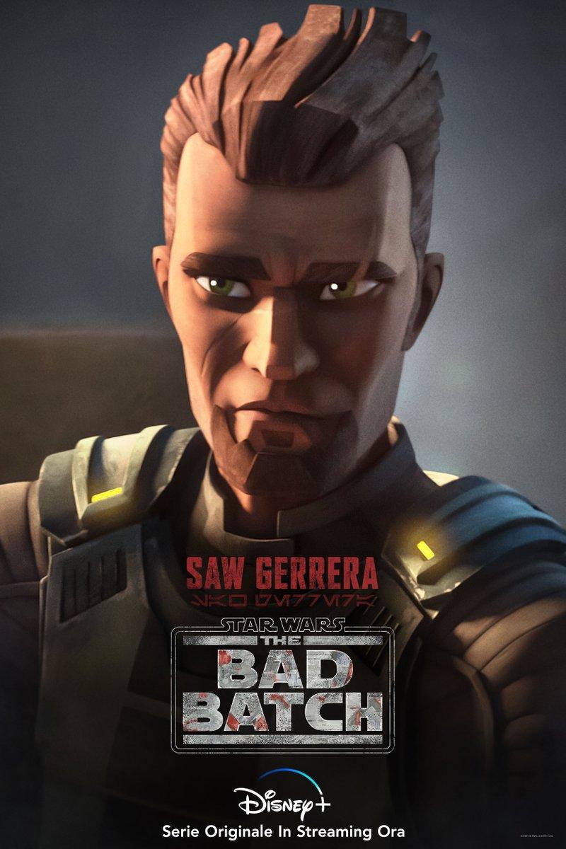 Saw Gerrera. I primi due episodi di Star Wars: #TheBadBatch sono in streaming su #DisneyPlus! Quale vi è piaciuto di più finora?