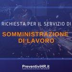 Image for the Tweet beginning: Annuncio ID 1542 Servizio richiesto: Somministrazione