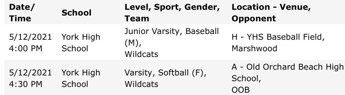 test Twitter Media - Wildcats in action today: @yorksoftballME on the road vs OOB 4:30pm, JV @YorkBaseballME home vs Marshwood 4pm! Go Cats! @YHSWildcats https://t.co/Wn5W8OFQRt