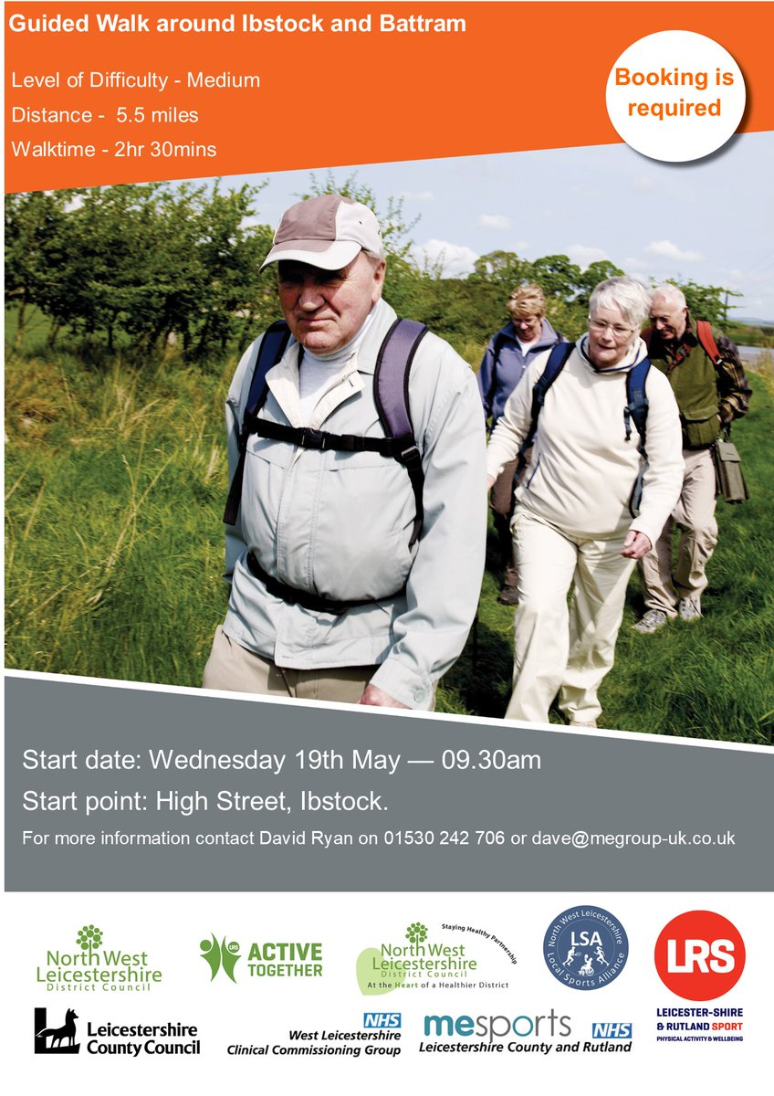 RT @nwlhealth: David's guided walk around the national forest still has spaces remaining!👣🌳  Fun, friendly guided walk on the 19th May in Ibstock The theme for this year's #MentalHealthAwarenessWeek is nature. This is a great way to get involved.  @MESportsGroup @ThisIsNWLeics