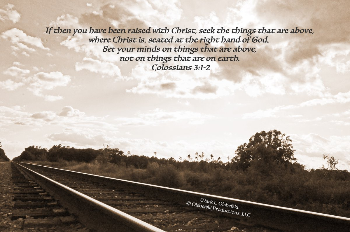 Message from Colossians 3:1-2 -If then you have been raised with Christ, seek the things that are above, where Christ is, seated at the right hand of God. Set your minds on things that are above, not on things that are on earth. Colossians 3:1-2 @GovRonDeSantis @SenRickScott @ben https://t.co/kQ0hKhWH0Q