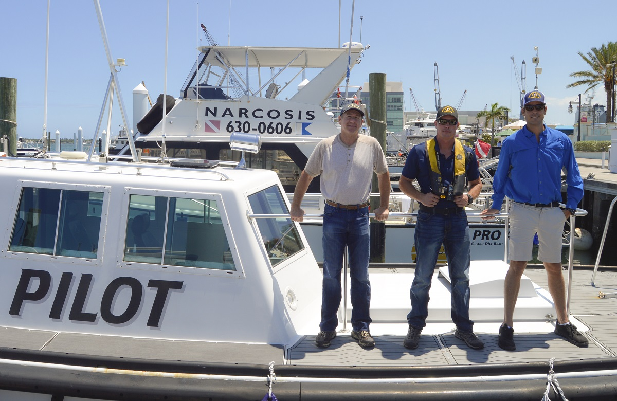 Meet your local harbor pilots! Captains Reid Hansen, Eric Baker and Dane Britt are three of four Palm Beach Harbor Pilots. As state-licensed harbor pilots, they provide safe & reliable transit for ships arriving & departing the @PortofPalmBeach  @FLHarborPilots https://t.co/zyVz0ncdRT