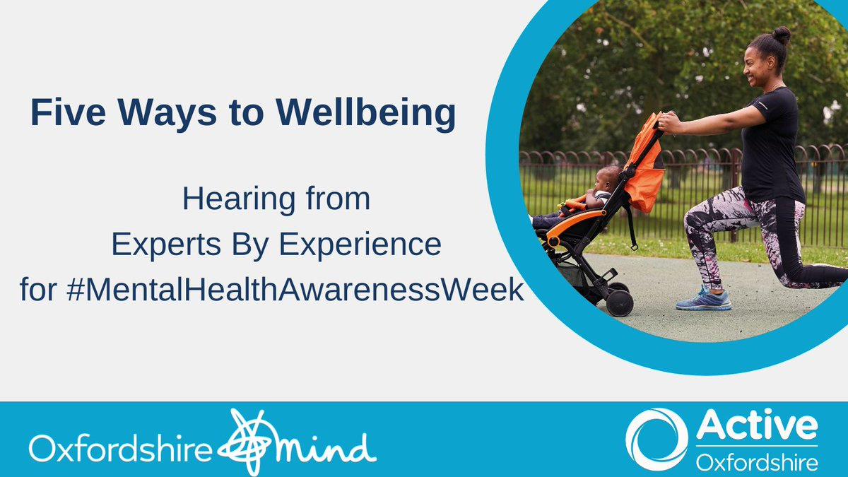 Many thanks to @oxfordshireMind and their ExpertsByExperience for their honesty when sharing the benefits of physical activity for #MentalHealthAwarenessWeek. We hope you're enjoying reading them as much as we are.