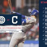 Here is today's #Cubs starting lineup.  #CubTogether