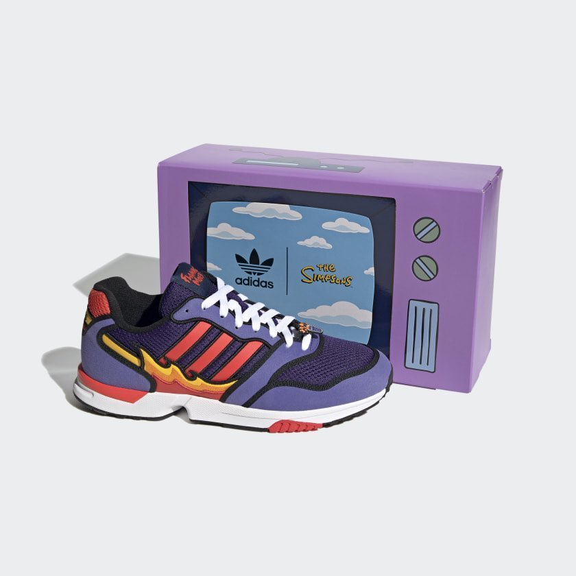 The Simpson's x adidas ZX 1000 'Flaming Moe's'