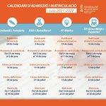 Image for the Tweet beginning: Calendario de Admisión y Matriculación