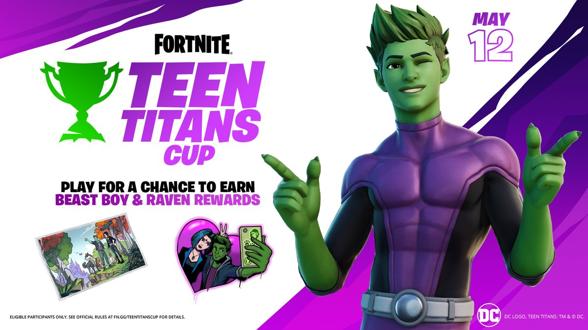 Unleash your inner beast with the Teen Titans Cup! Compete in the Cup for a chance to earn the Beast Boy Outfit before he hits the Shop.  Check in-game for when the tournament is live in your region.  Rules: https://t.co/BM7HQ8f9gi https://t.co/dwfXFFg18P