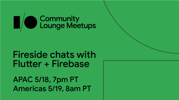 🔥 Join us & fellow Flutter developers at this #GoogleIO meetup! 🐦 Ask questions and discuss the latest product updates in this virtual space. You may also see a few familiar faces. Sign up 👉 goo.gle/io-lounge