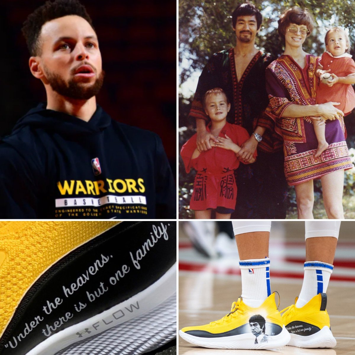 🐉💥Game-Worn (@warriors v. @ATLHawks) by @StephenCurry30 .  Bruce Lee @UnderArmour Curry 8 shoe: Auction for Charity is now LIVE @GoldinAuctions               TO BID  —>    🐉 To help show solidarity with the Asian community, Golden State Warriors guard 1/