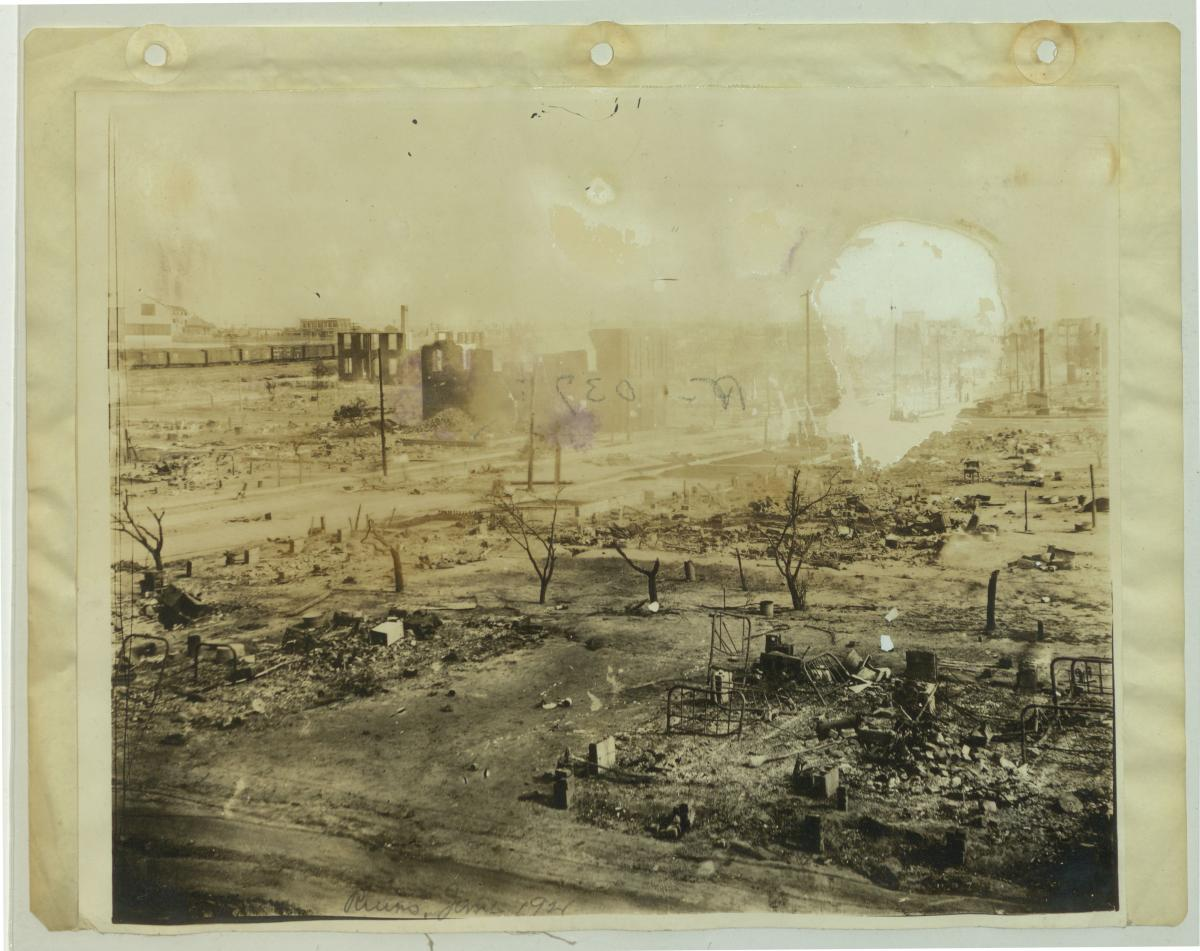This May marks 100 years since the Tulsa Race Massacre in Oklahoma. The massacre was widely reported at the time, but has been omitted from most modern American history texts and curricula.  Learn more in in this National Archives News article: https://t.co/jCwPvDHd8D https://t.co/9ifoy8KLHl