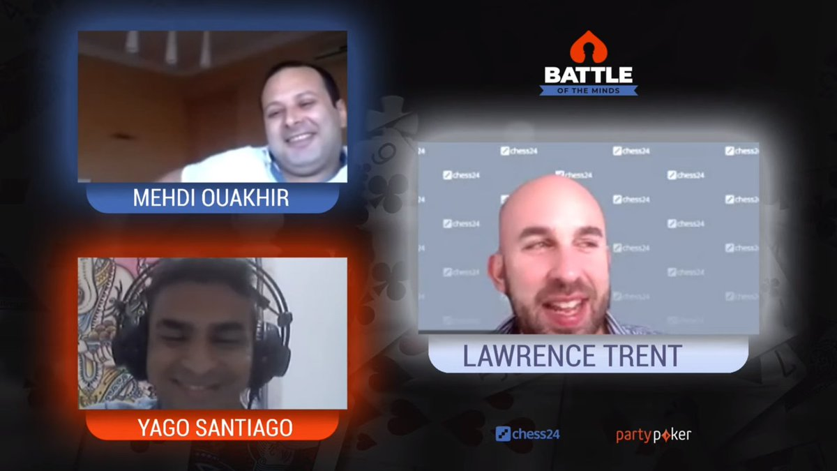 "test Twitter Media - Lawrence's advice to the players of this Battle of the Minds match: ""And remember, it's better to be lucky than good!""  Watch @LawrenceTrentIM commentate on the match FM Mehdi Ouakhir vs. GM yago Santiago!  📺https://t.co/2uIerEt0RN https://t.co/eKq9mFqYoC"